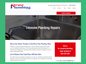 Struse Plumbing front page
